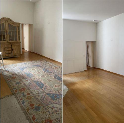 Wohnungsauflösung Berlin- Wohnungräumung, wohnung räumen lassen-sperrmüll-Vorher-Nachher, Antiker Schrank entsorgen, Teppich entsorgen