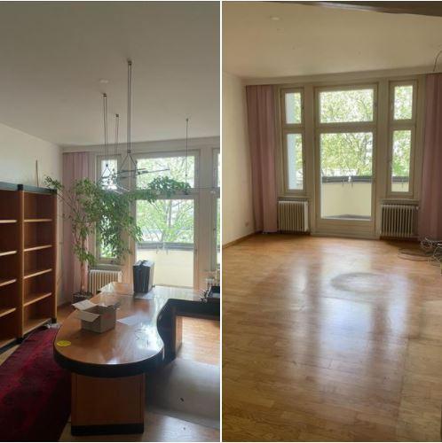 Wohnungsauflösung Berlin - Haushaltsauflösung Berlin - Vorher Nachher - Chefzimmer mit Schreibtisch entsorgen