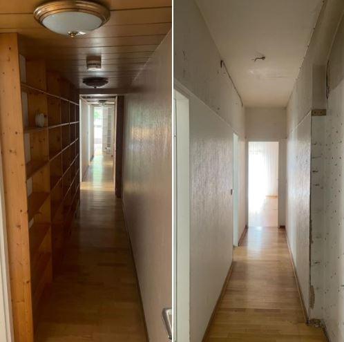 Wohnungsaufloesung Berlin - Vorher-Nachher - Flur Wandschrank entsorgung - wohnung räumen lassen