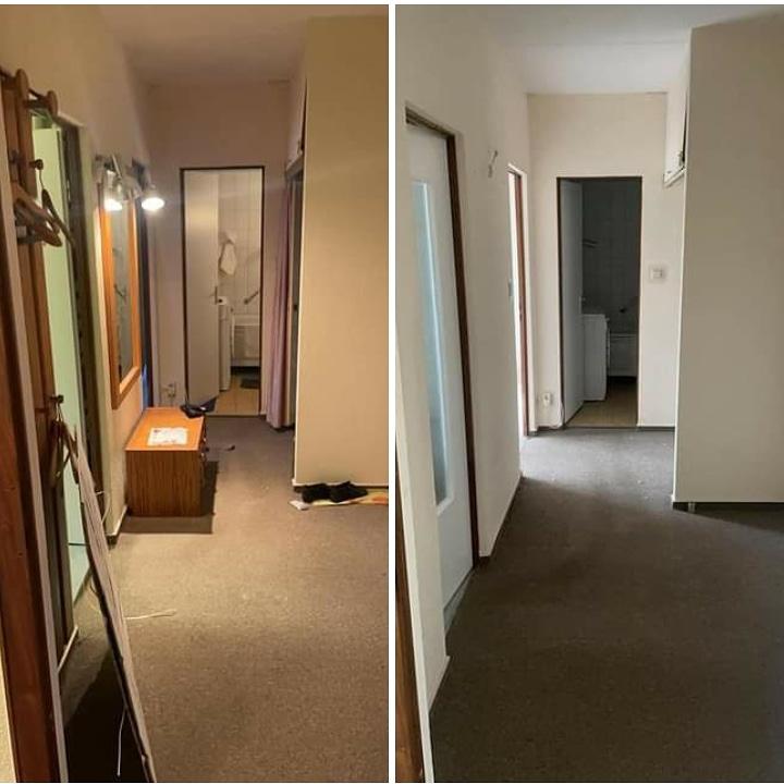 Wohnungsauflösung Berlin - Flur Vorher Nachher - Wohnung räumen lassen - kosten wohnungsauflösung Berlin