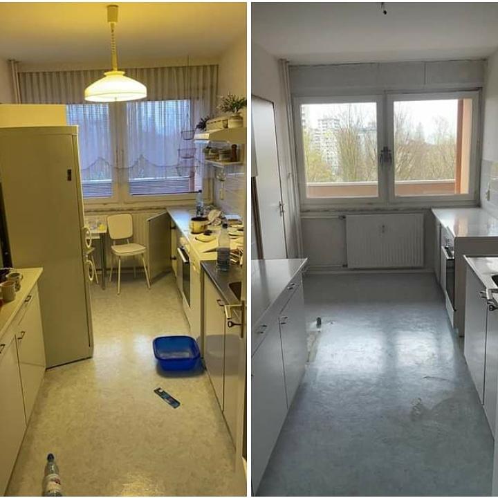 Wohnungsauflösung Berlin - Wohnungsräumung Berlin - Küche - Kühlschrank, Elektrogeräte entsorgen Sperrmüll Berlin