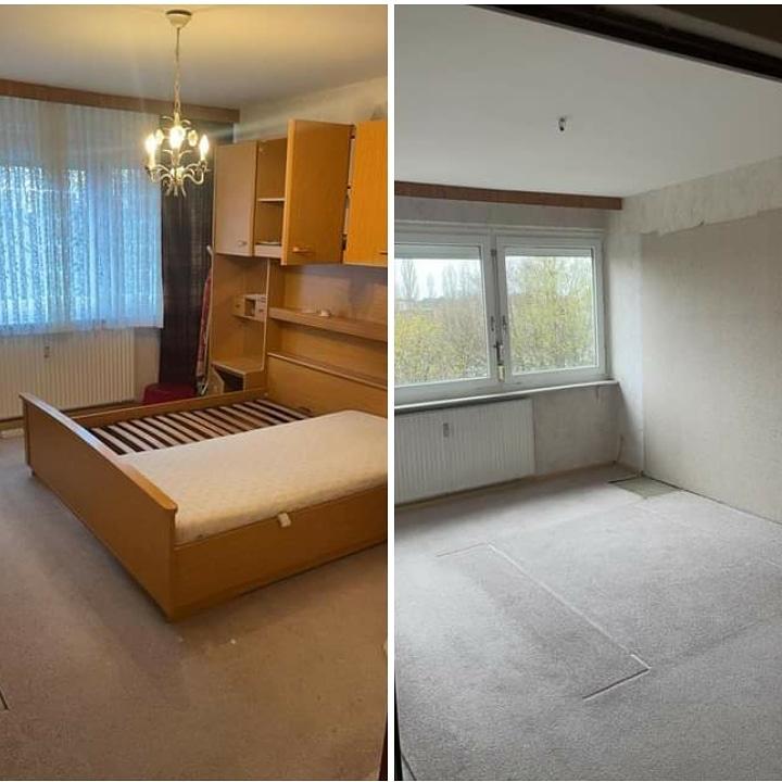 Wohnungsauflösung Berlin - Wohnungsräumung Berlin - Schlafzimmer entrümpeln, Bettschrank entsorgen, Schrankbett entsorgen, Besenreine Wohnungsauflösung