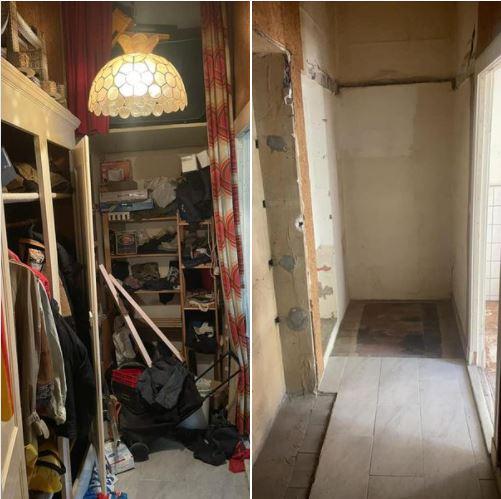 Messi Wohnungsräumung Berlin - Flur Einbauten entsorgt